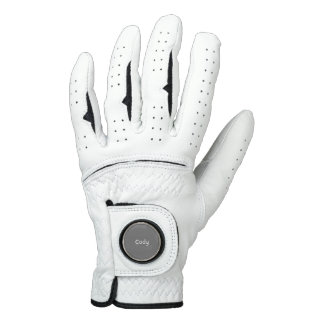 Gray Personalized Golf Glove