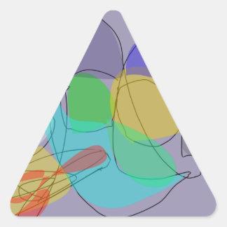 Gray Philosophy Triangle Sticker
