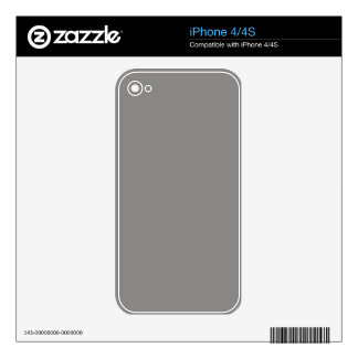 Gray Phone Skins Decal For The iPhone 4S