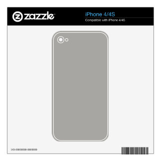 Gray Phone Skins Decals For The iPhone 4