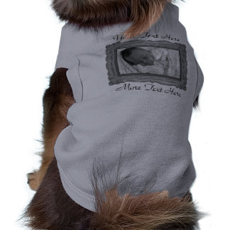 Gray Photo Frame Pet Clothing