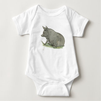 Gray Pig Piggy Children's Book Illustration Shirt