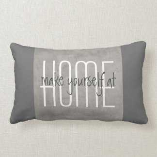 gray pillow with quote home decor