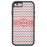 Gray pink chevron zigzag monogram pattern tough xtreme iPhone 6 case
