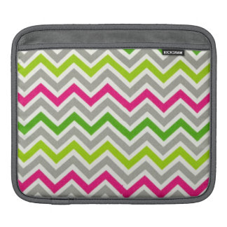 Gray Pink Green Chevron iPad Sleeve