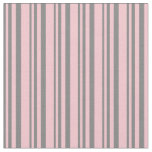 [ Thumbnail: Gray & Pink Lined Pattern Fabric ]