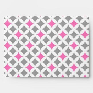 Gray Pink Wedding Envelope