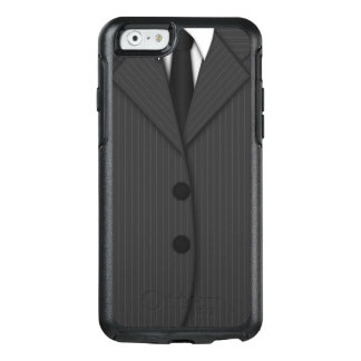 Gray Pinstripe Suit & Tie Grey Otterbox iPhone 6