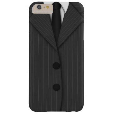 Gray Pinstripe Suit Tie Slim iPhone 6 6S Plus Case