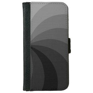 Gray Pinwheel Design iPhone 6/6s Wallet Case