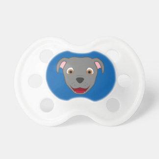 Gray Pitbull Face Pacifier