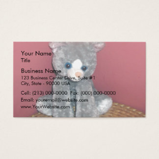 Gray Plush Toy Business Card