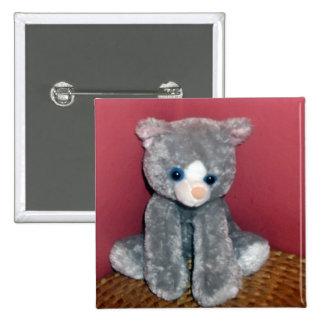Gray Plush Toy Button