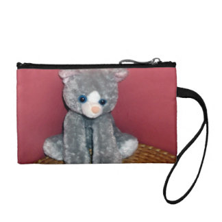 Gray Plush Toy Coin Wallet