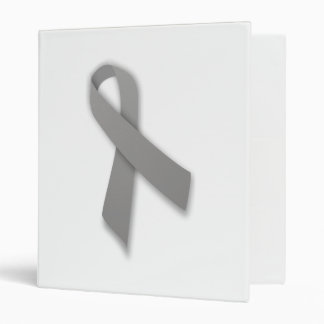 Gray Political Statement Awareness Ribbon 3 Ring Binder