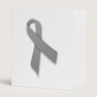 Gray Political Statement Awareness Ribbon 3 Ring Binder