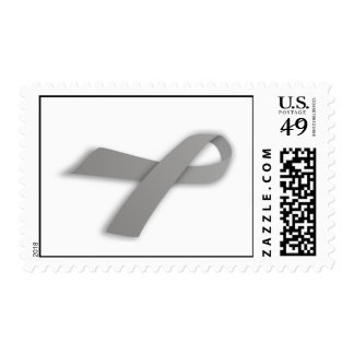 Gray Political Statement Awareness Ribbon Stamp