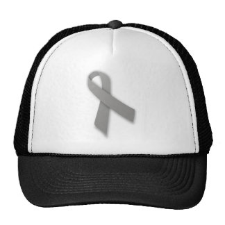 Gray Political Statement Awareness Ribbon Trucker Hat