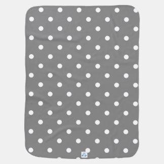 Gray Polka Dot Baby Blanket