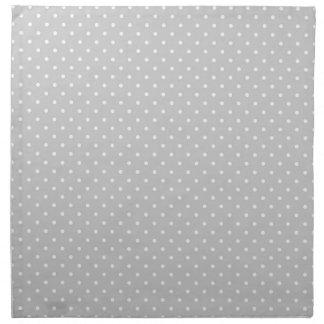 Gray Polka Dot Cloth Napkin