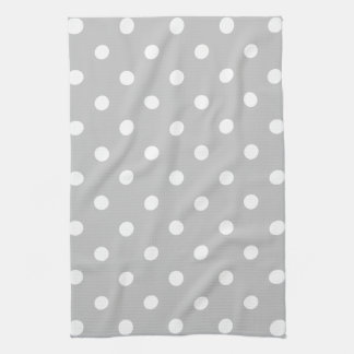 Gray Polka Dot Hand Towel