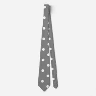 Gray Polka Dot Neck Tie