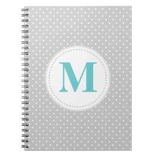 Gray Polka Dot Notebook