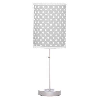 Gray Polka Dot Nursery Desk Lamp