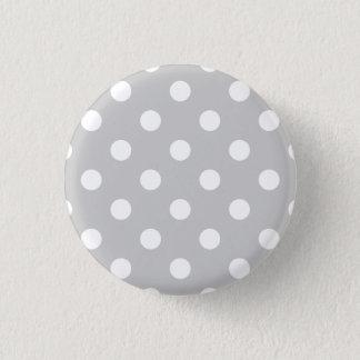 Gray Polka Dot Pattern Button