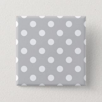 Gray Polka Dot Pattern Pinback Button