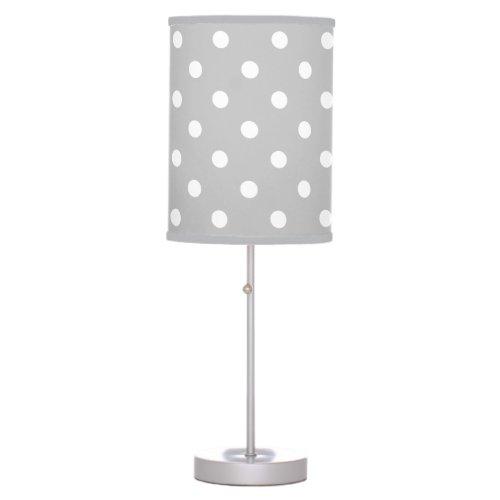 Gray Polka Dot Table Lamp