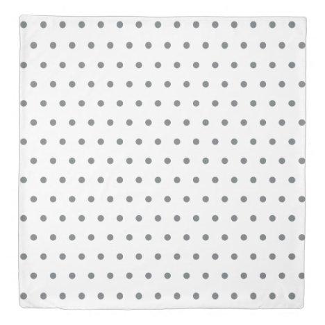 Gray Polka Dots Duvet Cover