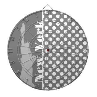 Gray Polka Dots; New York Dart Board