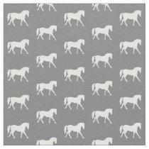 Gray Pony Fabric, Horse Fabric, Farm Animal Fabric