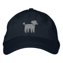 Gray Poodle Dog Logo Embroidered Baseball Hat