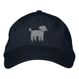 Gray Poodle Dog Logo Embroidered Baseball Hat