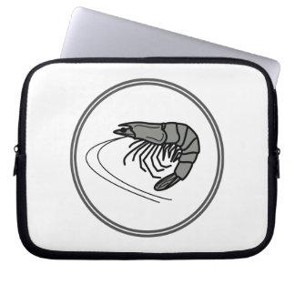 Gray Prawn - Fish Prawn Crab Collection Laptop Sleeve