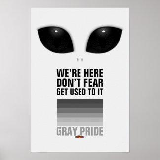Gray Pride Alien poster