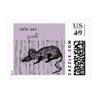 Gray Primitive Stripes Stamps