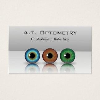 Gray Professional Optometrist Eyeballs Optometry Business Card