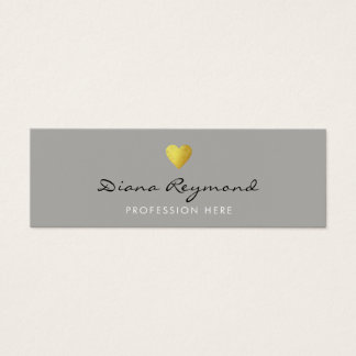 gray professional profile card with gold heart