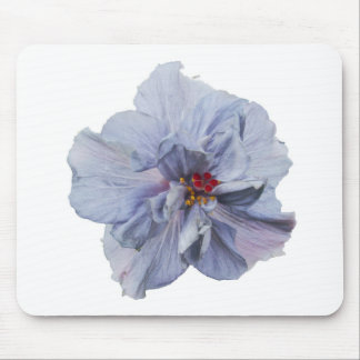 gray purple hibiscus mouse pad