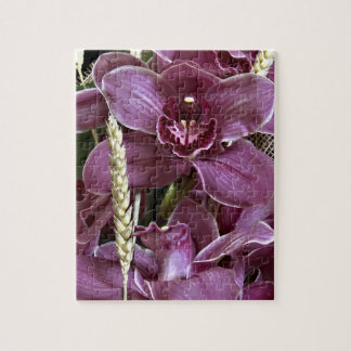 Gray Purple Orchid Puzzle