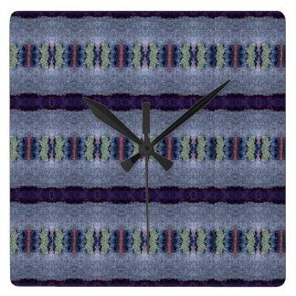 gray purple stripe clock