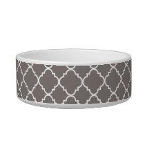 Gray Quatrefoil Clover Bowl