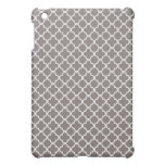 Gray Quatrefoil Clover Pattern Case For The iPad Mini