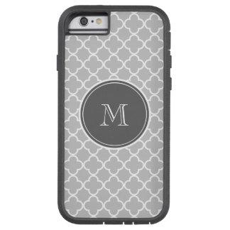 Gray Quatrefoil Pattern, Charcoal Monogram Tough Xtreme iPhone 6 Case