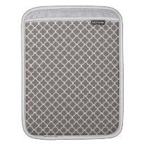 Gray Quatrefoil Pattern iPad Sleeve