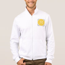 Gray Quatrefoil Pattern, Yellow Monogram Jacket