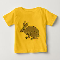Gray Rabbit Baby T-Shirt